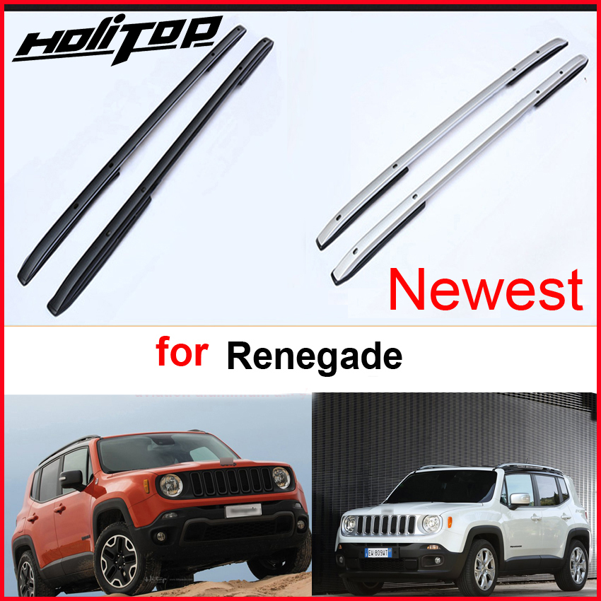 New arrival roof rack roof rail roof bar luggage bar for Jeep Renegade,thick aluminum alloy.supplied by ISO9001 factory.