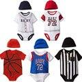 Детские Мальчики Девочки Одежда Лето Футбол Баскетбол Ребенка Комбинезон Мальчик Девочка Одежда Новорожденных Следующая Детская Одежда Комбинезоны Комбинезоны