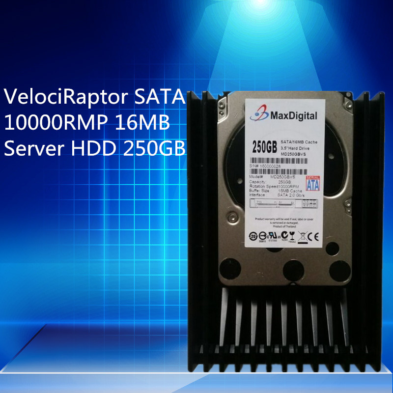 VelociRaptor 250GB 3.5inch SATA 16M 10000RMP  Server HDD Warranty for 1yera  new and retail package for 571232 b21 571517 001 571227 002 250gb 7 2k 3 5inch sata hdd