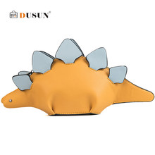 b5e1d228d72b Творческий Хамелеон Мультяшные сумочки клапаном 3D Забавный динозавр  животных сумка панелями плеча Crossbody сумки для женщин