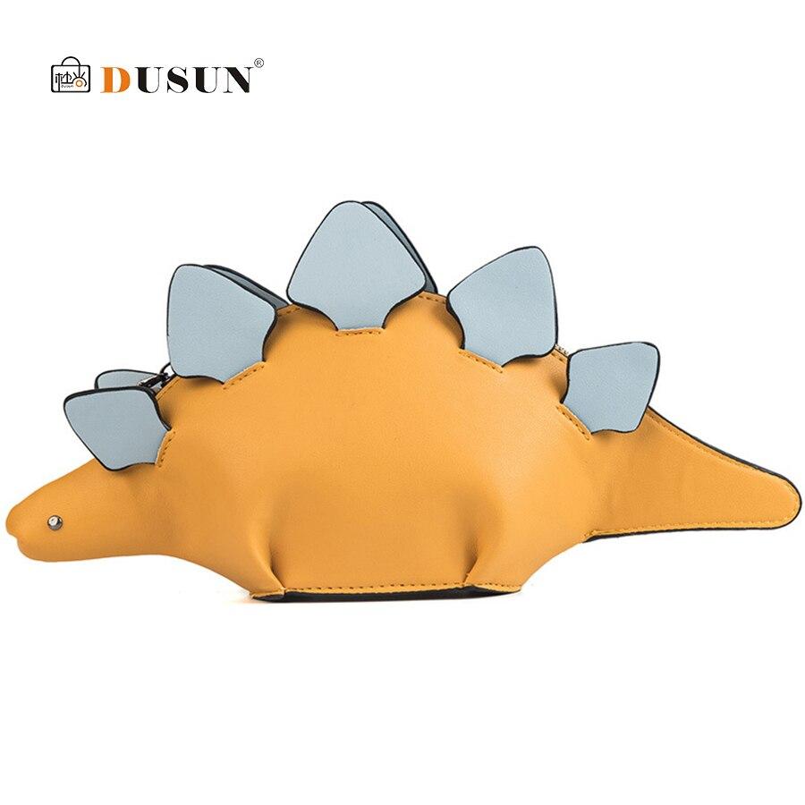 Creativo Camaleón de dibujos animados bolsos solapa 3D dinosaurio divertido Animal bolsa de mensajero con paneles de hombro, Crossbody bolsas para las mujeres 2019