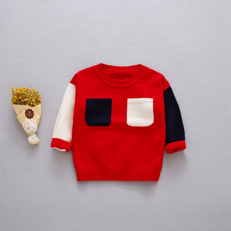 Preppy-Style-Autumn-Baby-Boys-Color-Block-Two-Pockets-Long-Sleeve-O-Neck-Children-Kids-Pullover-Casual-Knitwear-Sweater-1