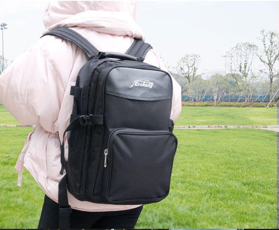 esportes dois em um mochila ao ar
