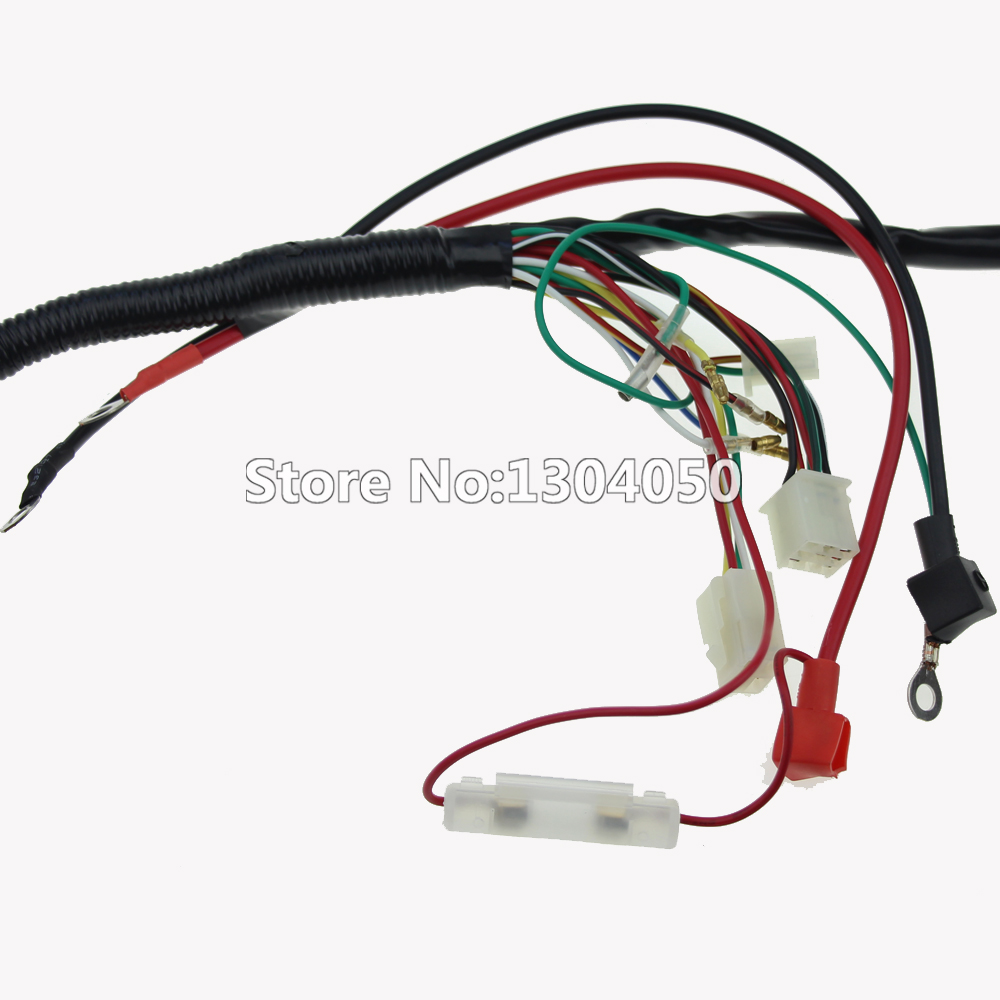 hight resolution of quad wiring harness 70cc 110cc chinese electric start 50cc 90cc loom 125cc atv pit bike go kart in motorbike ingition from automobiles motorcycles on