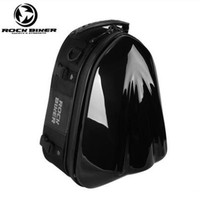 ROCK BIKER Motorcycle Backpack Helmet Bag Saddle Bags Moto Hard Shell Waterproof Motocross Tank Bag Luggage Alforjas Para Moto