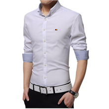2017 NEW Mens Dress Shirts Slim fit Fashion Long sleeve Shirt High Quality Casual 7 Colors