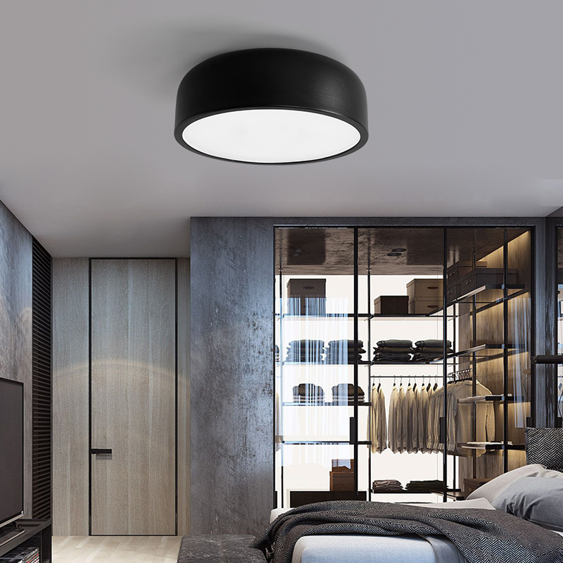 Creative LED Ceiling Lights Modern Minimalism Iron Round ceiling Lamp Bedroom living room Foyer dining room lamparas de techo bdbqbl modern simple creative iron wall lamp led bedroom bedside living room lighting fixture lamparas de techo pared