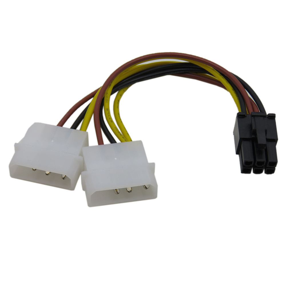 2PCS graphics card display card Video card power cord double Ide 4 ...