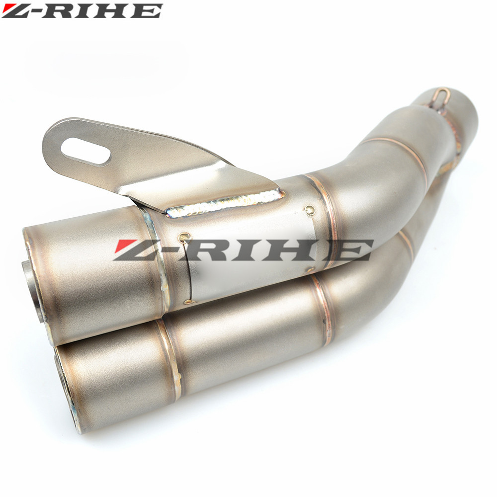35-51mm Universal Motorcycle Double Exhaust Muffler Pipe for yamaha KTM duke 690 Duke 390 125 rc 125 250 SMC 1190 RC8R 250 universal front manifolds exhaust shield protector cover heat protection titanium for ktm 690 duke smc enduro 2008 2016