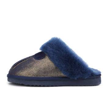 MBR FORCE Fashion Warm Women Shoes Natural Fur  Slippers Home Shoes Winter Suede Slippers Woman Indoor Shoes Wool Slippers 2