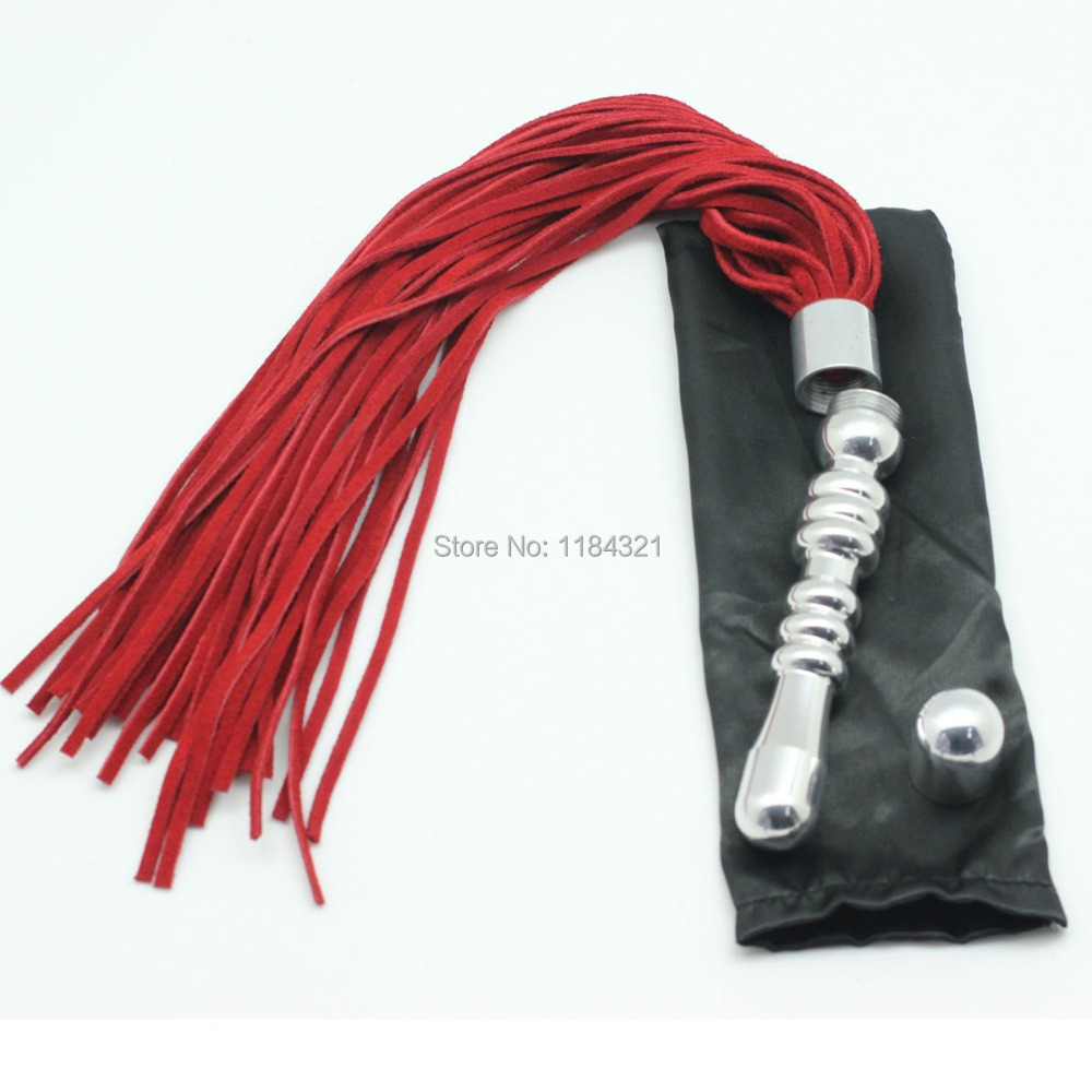 Role Play Flirting Metal Handle Leather Flogger Metal Handle Used As Anal Butt Plug, Couple Spanking Adult Sex Toys - Aliexpresscom - Imallcom-6119