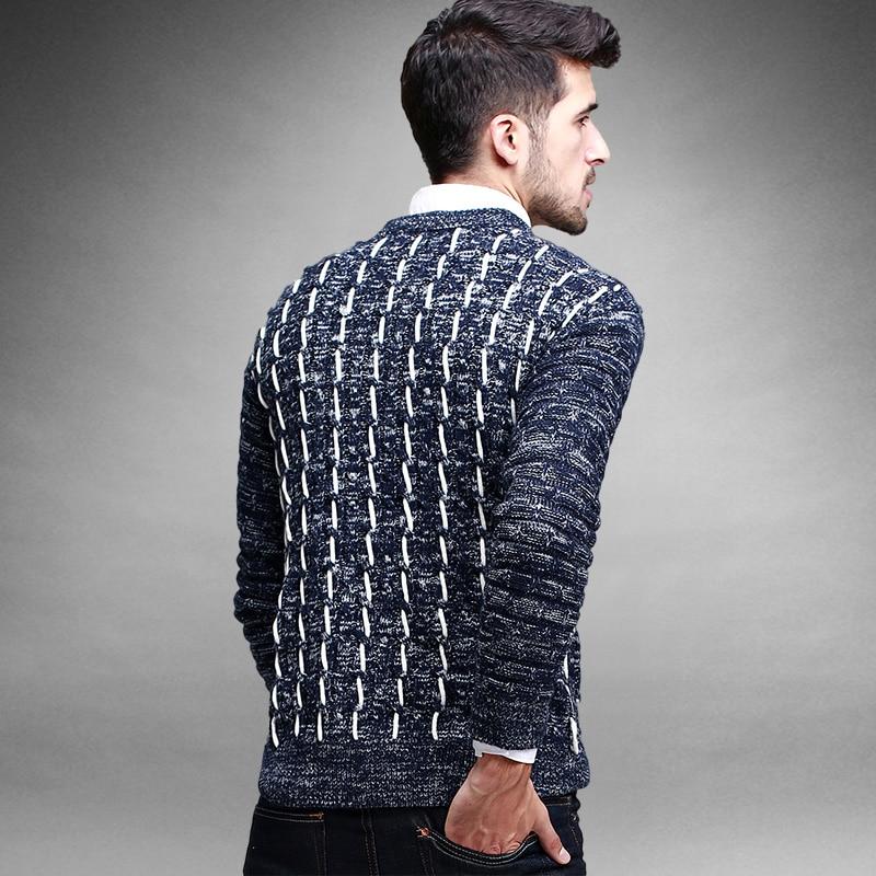 2015 New Winter Mens Pullover Cotton Sweater Fashion Design Mens