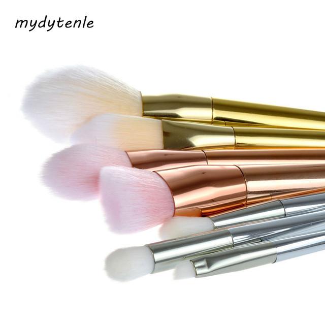 7 Pcs Pincéis de Maquiagem Profissional Definida Kit Cosméticos Make Up Ferramenta Pincéis Kabuki Pincel de Blush Em Pó Corretivo Fundação Pincéis rosa