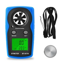 BTMETER BT-817A LCD Digital Wind Speed Meter Anemometer Wind Speed Meter -10~45ºC Temperature Tester Anemometro