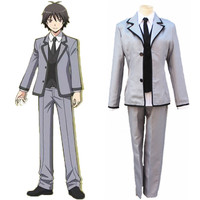 Assassination Classroom Shiota Nagisa Isogai Yuuma Cosplay Costume School Uniforms(Coat+Pants+Vest+Tie)
