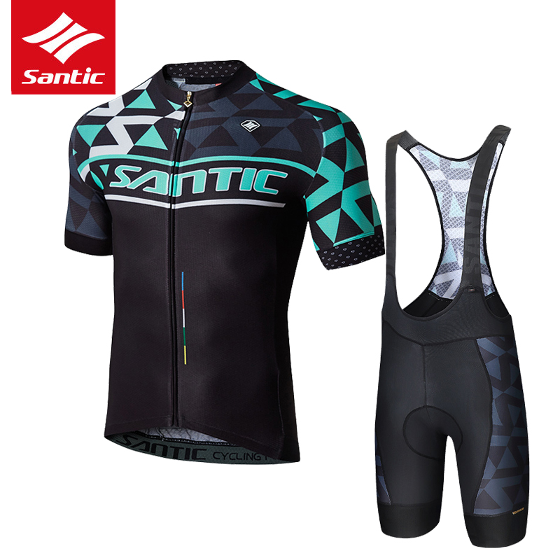 Santic Cycling Jersey 2019 Men Pro Team MTB Road Bike Jersey Summer Light Thin Breathable Bicycle