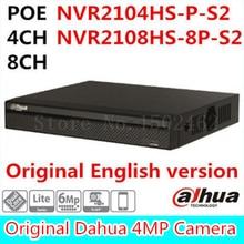 6mp 4ch 8ch dahua poe nvr nvr2104hs-p-s2/nvr2108hs-8p-s2 hasta 6mp grabación onvif network video recorder onvif poe puerto