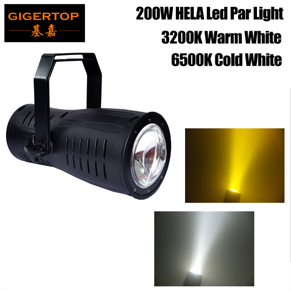 Freeshipping High Power 200W COB Aluminum Led Par Light Frost Lens DMX Control Warm White Cold White Optional LCD Display