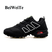 Men Outdoor Sport Running Shoes Gym Trainers Big Size Breathable Sneakers For Men Cushioning Wedge Outdoor Tourism Walking Shoes
