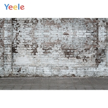 Yeele Wallpaper White ash Brick Wall Grunge Floor Photography Backdrops Personalized Photographic Backgrounds For Photo Studio