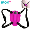 IKOKY Wearable Butterfly Vibrator Sex Toys for Women Clitoris Stimulate Female Orgasm Medical Silicone Adult Products