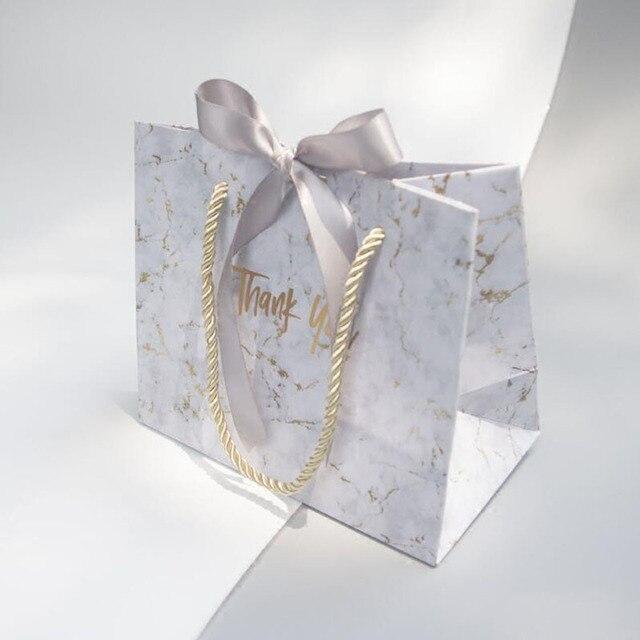 Avebem saco de presente estilo europeu, 10 unidades de mármore criativo, caixa de presente de casamento, lembranças de casamento e sacos de doces para hóspedes