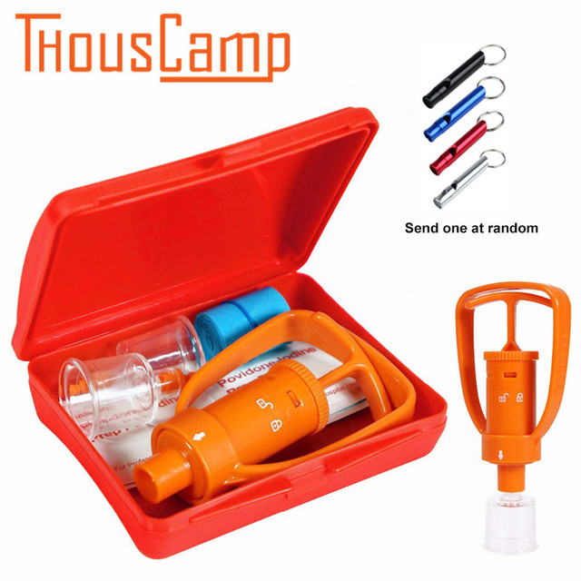 Venom Pump Emergency First Aid Extractor Outdoor Safety Tools Bee Snake Bite Kit Survival Tools SOS Camping Hiking