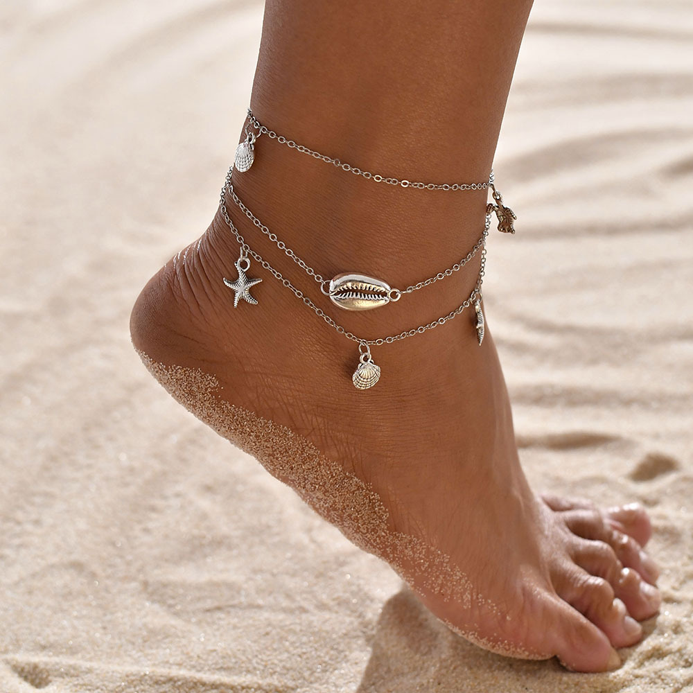 Fashion Women Gold Silver Ankle Bracelet Anklet Chain Foot Beach Adjust Jewelry