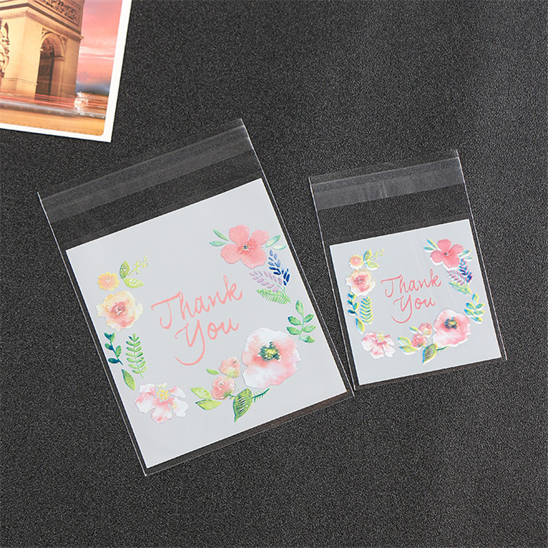 25pcs 10*10+3 Big Lovely Self-Stick Transparent Opp Bags Bracelets Earring Necklace Gift Bags Packaging For Jewelry Box Package