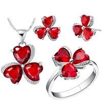 Wholesale Free Shipping 925 Silver Fashion Jewelry Set Zircon Jewelry Sets T289 7