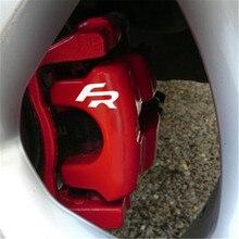 Adesivos para cilindro de freio de 6 peças, adesivos de ibiza cupra leon tdi tsi para estilização de automóveis