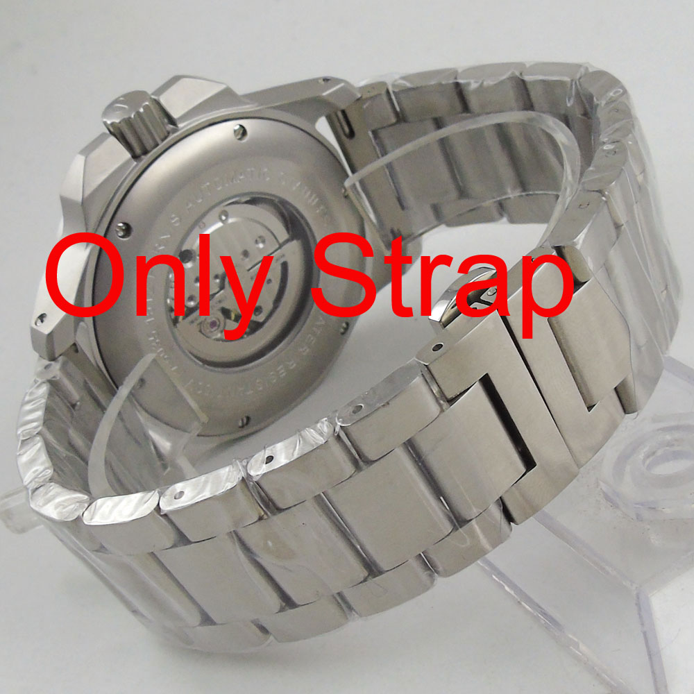 24mm 316L stainless steel solid bracelet fit Parnis 47mm Automatic mens Watch24mm 316L stainless steel solid bracelet fit Parnis 47mm Automatic mens Watch