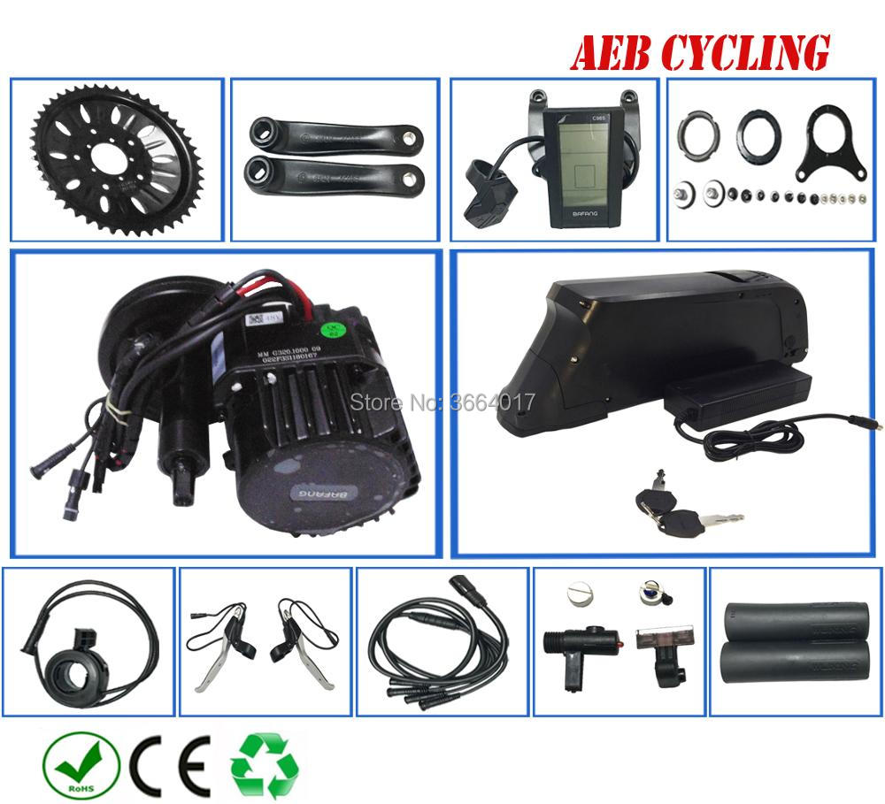High power Bafang BBSHD 48V 1000W mid crank motor kits with Atlas down tube 52V 14Ah Lithium ion electric bike battery pack electric bike lithium ion battery 48v 40ah lithium battery pack for 48v bafang 8fun 2000w 750w 1000w mid center drive motor