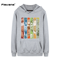 Flevans 2018 New Fashion Men Hoodies Sweatshirtts DC Comics Justice League Print Loose Hoody For Man