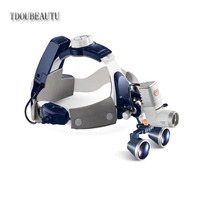 TDOUBEAUTY 5W LED Dental Surgical Headlight Lamp All in one With 3.5X420mm Binocular Galileo Frame Loupe Magnifier New Arrival