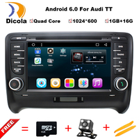 1024*600 Quad Core Android 6.0.1 Car DVD Player For Audi TT 2006 2007 2008 2009 2010 2011 2012 2013 Radio GPS Navigation System