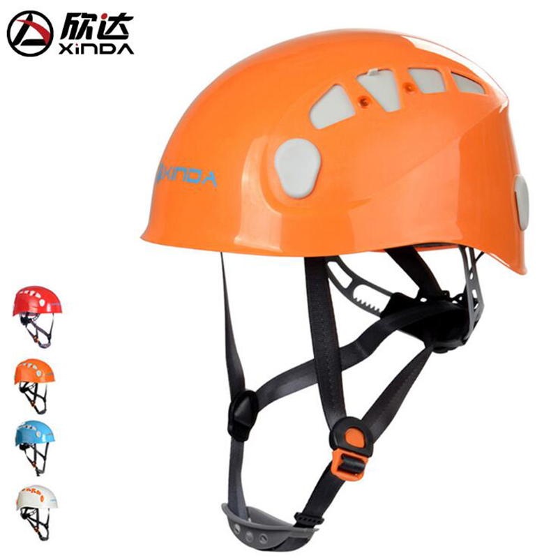 Xinda Outdoor Speed Drop Helmet Climbing Helmet Digging Rope Riding Expansion Mountain Climbing Cable Rescue Helmet Rafting