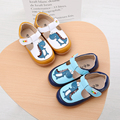PDEP Lovely Animal Toddler Boys Oxford Casual PU Soft Leather Shoes Yellow Patch Flat Children Leather Casual Footwear