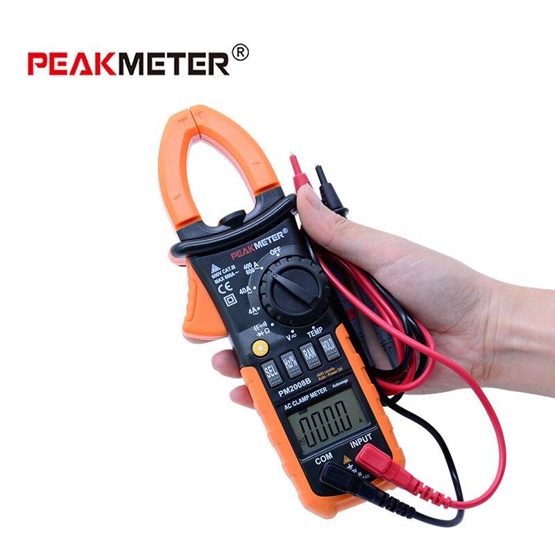 PEAKMETER PM2008B professional Autorange digital ac ampere meter clamp metro equal 4000 Counts lo not equal пиджак