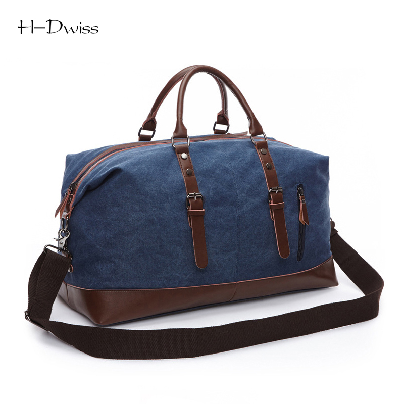 ФОТО HDWISS Vintage Canvas Men Women Luggage Travel Bags Duffel Duffle Bag Carry on Hand Luggage Trolley Bag Packing Cubes TB019