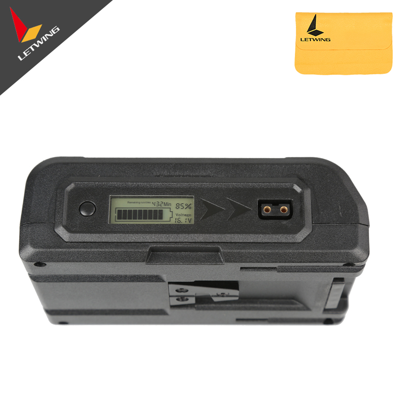 Lanparte A-mount Power Supply Gold Mount Li-ion Battery 150Wh With LCD Display For Camera Monitor zpsa403r3 power supplies board mount mr li