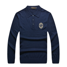 Billionaire italian couture sweater men's 2016 popular business casual comfort embroidery designed elegant wool free shipping