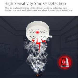 Image 2 - Smart Wifi Fire Smoke Temperature Sensor Wireless Smoke Temperature Detector Automation Home Security Alarm System Smart life