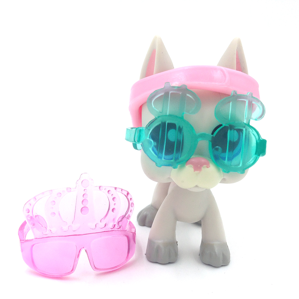 LPS Rare Great Dane Gray Dog Blue Eyes Kids Toys Add Fashion Accessories lps great dane dog 1688 without magnet