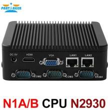 Промышленные Quad Core Intel Celeron N2930 2.0 ГГц процессор Dual Ethernet Порты Мини-ПК с одной или четыре com карты памяти