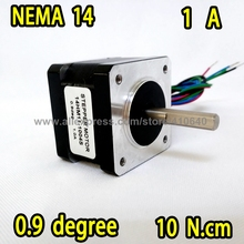 FREE SHIPPING stepper motor 14HM11-1004S Nema14 with 0.9 deg  1A   10 N.cm with bipolar and 4 lead wires