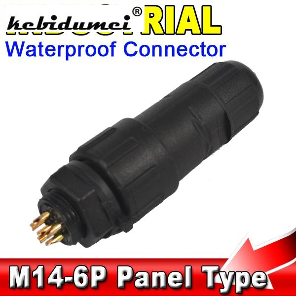 IP68 6 Pin Waterproof Connector Cable Adapter 6Pin Industrial Wire ...