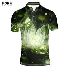 FORUDESIGNS  Shirt Fashion 3D Floral Print Summer Clothing Adult Shirts Short Sleeve Breathable Plus Size Camisa