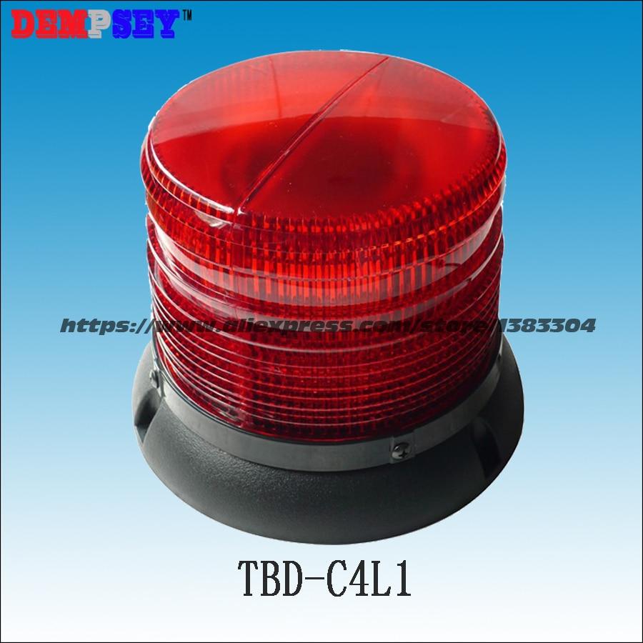 TBD-C4L1 Round Ceiling,emergency Warning Light,DC12V /24V Fire/police/ Vehicle Top Roof Red LED Magnetic Flashing Warning Light