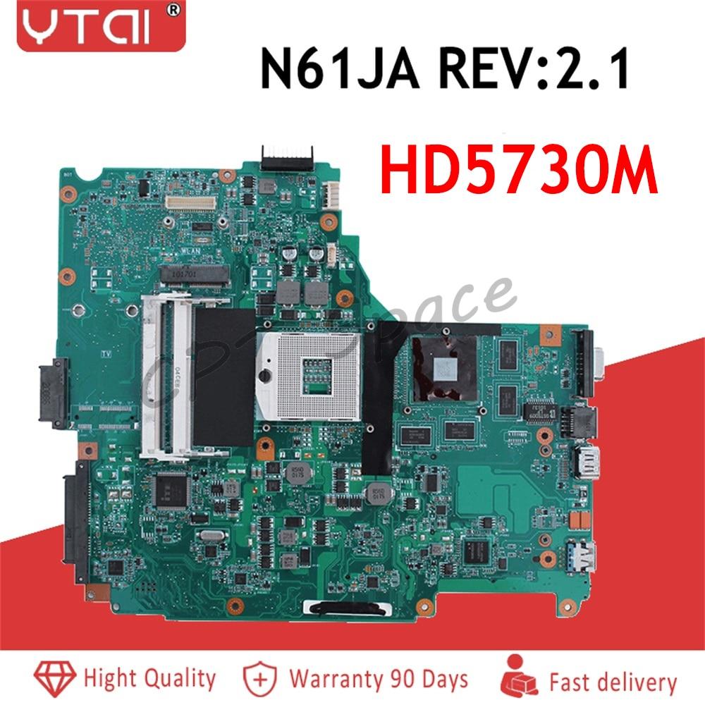 N61JA Motherboard For ASUS N61J N61JA N61JQ Laptop Motherboard REV2 1 Full Tested Support i3 i5